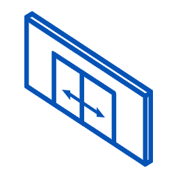 Automatic or manual sliding door systems Icon